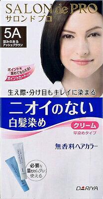 【送料無料】【毛染め】ダリヤ サロンドプロ 無香料ヘアカラー 早染めクリーム ( 白髪用 ) 5A×36点セット まとめ買い特価!ケース販売 ( 4904651179886 ) ニオイのない無香料タイプの早染めタイプの白髪染めです。コネクター成分配合で、髪の生え際や分け目がキレイに染まります