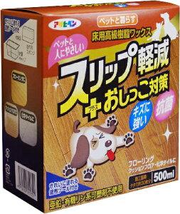 アサヒペン【ケース販売】ペットと暮らす床用高級樹脂ワックス500ml※20130811