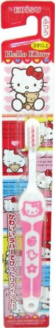 エビス ハローキティ ラバーハブラシ 3才以上 子供用歯ブラシ 毛のかたさ:ふつう×360点セット まとめ買い特価!ケース販売 ( 4901221074107 ):姫路流通センター