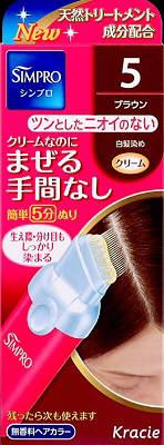 【送料無料】クラシエ シンプロワンタッチ無香料ヘアカラー5×36点セット まとめ買い特価!ケース販売 ( 4901417634054 ) 白髪染め ( 早染めタイプ ) です。クリームなのにまぜる手間なし