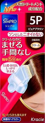 【送料無料】クラシエ シンプロ ワンタッチ無香料ヘアカラー 5P 80g×36点セット まとめ買い特価!ケース販売 ( 4901417634061 ) 白髪染め ( 早染めタイプ ) です。クリームなのにまぜる手間なし