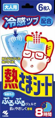 【送料無料】小林製薬 熱さまシート 大人用 冷却シート 8時間 6枚入  ( 急な発熱や寝苦しい夜に ) ×48点セット まとめ買い特価!ケース販売 ( 4987072008676 )