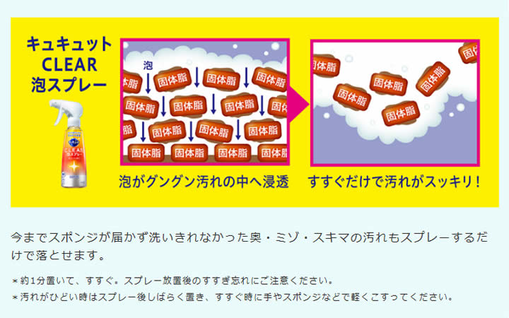 【送料無料・まとめ買い×3】花王キュキュットCLEAR泡スプレーオレンジの香りつけかえ用300ml