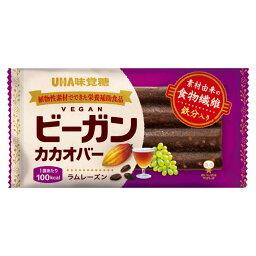 【送料込・まとめ買い×6個セット】UHA味覚糖 ビーガンカカオバー ラムレーズン 1個入