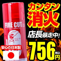 【店長暴走SALE】消火スプレーファイヤーカットエアゾール式消火器【消火具/消火器/スプレー/エアゾール】