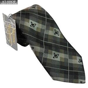 Vivienne Westwood ヴィヴィアン・ウェストウッド ネクタイ 8.5cm チェック柄 ブラック×グレー×ブラウン系 24T85-P19color1 お祝いギフト プレゼント 海外ブランド メンズ ネクタイ
