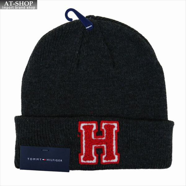 メンズ帽子, ニット帽 TOMMY HILFIGER 1CT 0205 CHARCOAL HEATHER