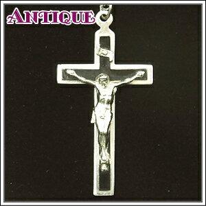 產品詳細資料,|【中古】【未使用品アンティーククロス】Lサイズ 黒樹脂板重ね合わせのキリストクロス十字架 真鍮チェ…