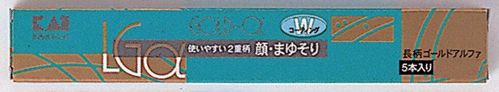 【 送料無料 】 【貝印】新 長柄ゴールドアルファ 5本入り LGα-5H1×400個セット (4901331007460)
