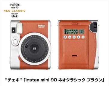 フジフィルム チェキ instax mini 90 ネオクラシック ブラウン 1台 ×10個セット