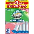 【 送料無料 】 スクラビングバブル トイレスタンプ フロ-ラルハ-ブの香り つけかえ用 4本入り ジャンボパック 152g (4901609008564)