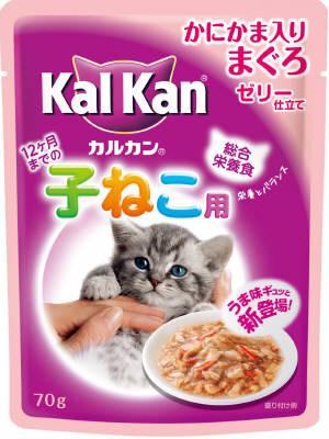 KWP76 カルカンパウチ 12ヶ月までの子猫用 かにかま入りまぐろ 70g×160個セット (4902397798910)