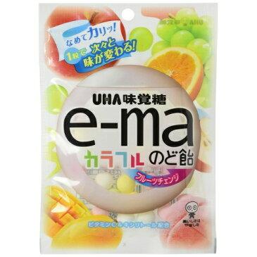 味覚糖 イーマ e-ma のど飴 カラフルフルーツチェンジ 50g ×72個セット