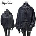 WO/12040671Roger&Raw(ロジャー&ロー)BACKフェイクレザーパッチZIPUPパーカー【atrium102】