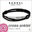 【正規品】 BANDEL バンデル クロスアンクレット Black×White S ※※
