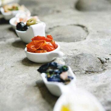 ダルトン SLANTING TRAY SET OF 4 スランティングトレイ 4個セット セラミック製 小皿 ディップ皿 薬味入れ ソース入れ ミニ シンプル ホワイト