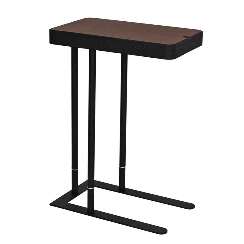 収納付サイドテーブル SST-810 ウォールナット
