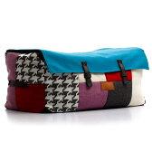 Lazy Bag ビーズクッションワイドスツール 310-BB (カバーリング/パッチワーク)