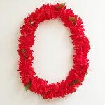 カーネーションハイビスカスレイ〈オレンジ〉お徳用【クリックポスト対応可能】〈ハワイアンレイ〉フラワーレイフラダンスアイテム造花忘年会パーティーに
