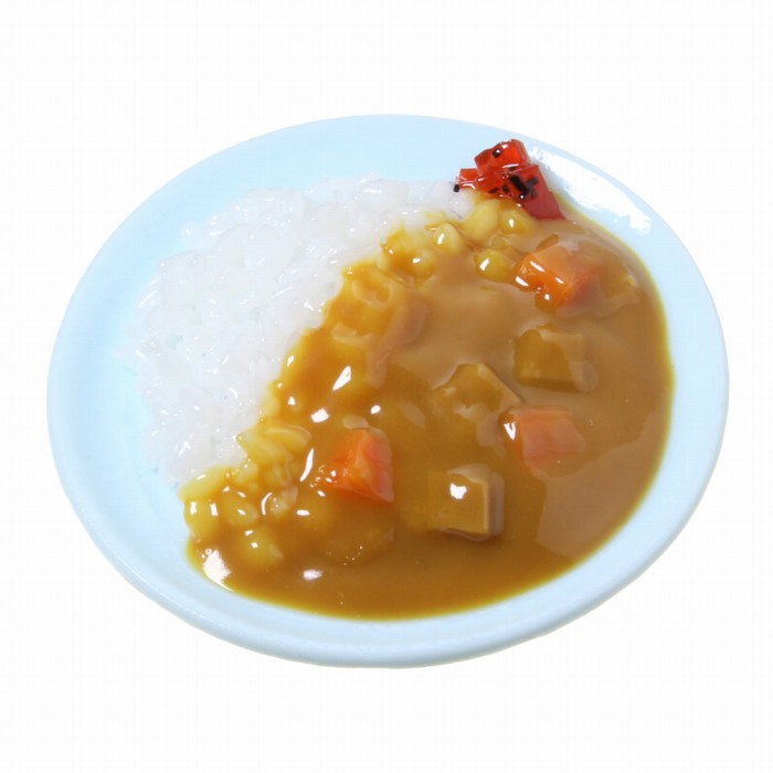 食品サンプル屋さんのマグネット(カレーライス)食品サンプル ミニチュア 雑貨 食べ物 ライスカレー 外国 土産 リアル