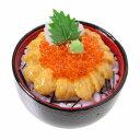 【メール便不可】食品サンプル屋さんのマグネット(ウニいくら丼)食品サンプル ミニチュア 雑貨 食べ物 刺身 海の幸 うに イクラ 外国 土産 リアル