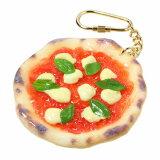食品サンプル屋さんのキーホルダー(ピザマルゲリータ)食品サンプル キーホルダー 雑貨 食べ物 pizza 海外 土産 プレゼント