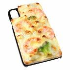 【メール便不可】食品サンプル屋さんのスマホケース(iPhoneXS、iPhoneXSMax、iPhoneXR:グラタン)食品サンプルiPhoneケースカバー雑貨食べ物スマートフォン