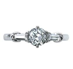 【ジュエリーリフォーム・セミオーダー】エンゲージリング(婚約指輪)にお勧めデザインメレダイヤ入りリング枠pt900(M)
