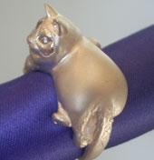 写真から作るシルバー宝石入り(制作例猫のリング):アトリエT
