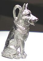 ペット遺骨ペンダント【あなたのペットの姿完全立体型】K18ホワイトゴールド【制作例5】
