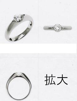 【ジュエリーリフォーム・セミオーダー】エンゲージリング(婚約指輪)にお勧めデザインプラチナリング枠(2点留めタイプ)M