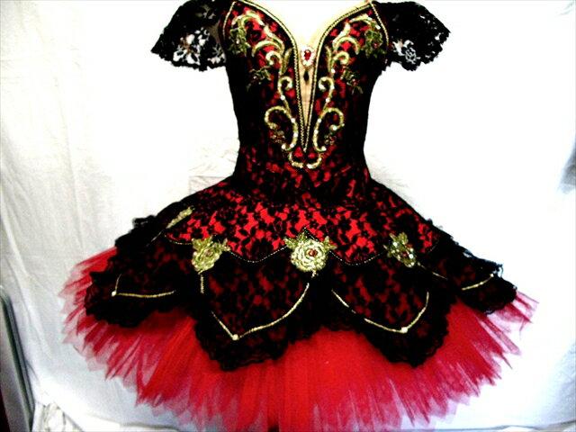 バレエ衣装レンタル クラシックチュチュ 16 キトリ 赤 エスメラルダ チュチュレンタル 【レンタル】