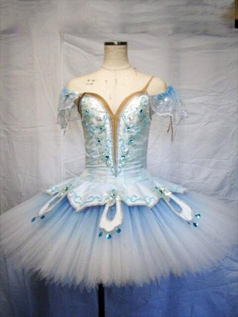 バレエ衣装レンタル クラシックチュチュ 19 フロリナ ブルー チュチュレンタル 【レンタル】