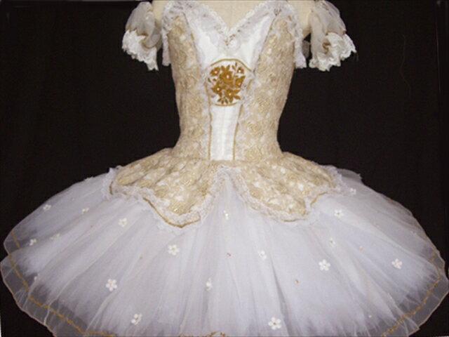 バレエ衣装レンタル クラシックチュチュ 23-b パキータ オーロラ ゴールド チュチュレンタル 【レンタル】