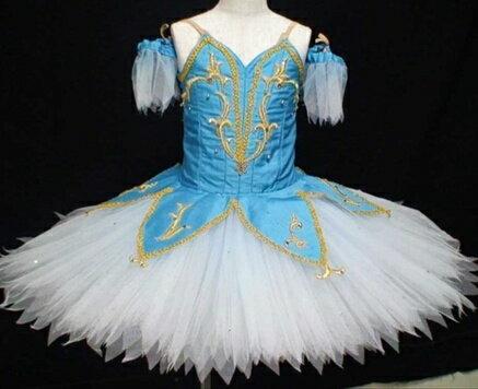 バレエ衣装レンタル子供用 クラシッククチュチュ 47 海賊 水色 チュチュレンタル 【レンタル】