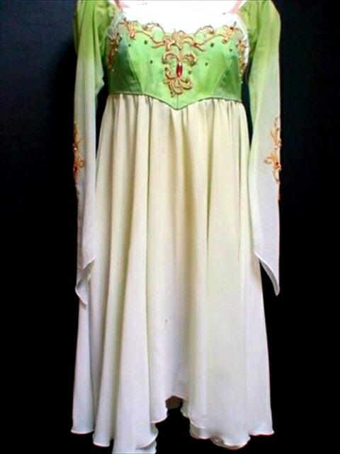 バレエ衣装レンタル ロマンチックチュチュ 74 海賊 ジュリエット グリーン チュチュレンタル 【レンタル】バレエ衣装教室もしています、気軽にお問い合わせください。