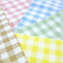 Five colors of T/C gingham check cloth (very much)