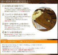 空気触媒加工「TioTio」ガーゼタオルフェイスタオル【抗菌・消臭・防汚】