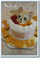 *フルーツデコレーションわんこケーキ*S期日制限
