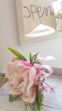 *misuzu*上質大輪ピオニーのクラッチブーケ079前撮り・海外挙式・リゾ婚ブライダル持ち運び簡単