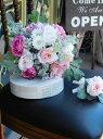 *misuzu*アンティークカラー薔薇(バラ)ラナンキュラス&シルバーグリーンのクラッチブーケ【選べる4色】結婚式ブーケ