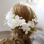 *misuzu*胡蝶蘭とカスミソウの髪飾り成人式和婚結婚式2次会ヘッドドレスブライダルナチュラル060