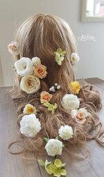 *misuzu*オールドローズ髪飾り前撮り撮影七五三成人式・和婚など使い道多数ヘッドコサージュ結婚式ヘッドドレス030
