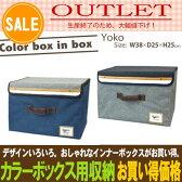 【アウトレット】【カラーボックス】【インナーボックス】【収納ボックス】インナーケース・布製・フタ付き・ヨコ型
