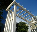天然木製 バルコニー アーチ Cider House GARDEN 小型が魅力のガーデンアーチ(ダークブラウン/ウォッシュホワイト) 商品型番:jsba-1900