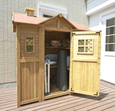 超大型木製物置小屋ポタジェモザイクガーデンシェッド