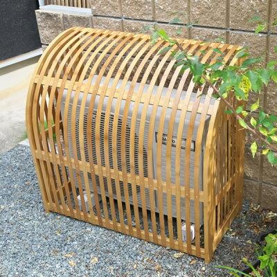 和モダン室外機カバー【犬矢来いぬやらい】Sサイズ天然竹製駒寄せ、犬矢来の伝統を現在に【送料無料!】