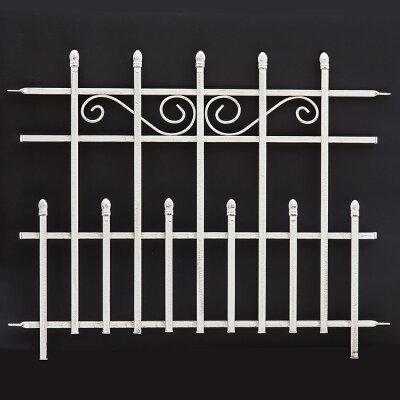 ロゼッタシステムフェンスフェンス門扉(ゲート)もつくれるシステムアイアンフェンス(アイアンフェンス・スチールフェンス・ガーデンフェンス)