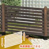 傾斜・坂道用!天然木製 ボーダーフェンス【スタンダード スロープ】商品型番:jsbf-slp790
