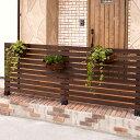 天然木製 ボーダーフェンス(ベランダ de ウォール)目かくし(目隠し)や境界にウッドフェンス・木製フェンス・ゲート(門扉)をDIY!